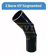 Elbow 45d HDPE Segmented