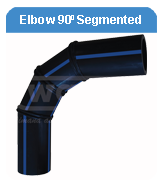 ELBOW 90d SEGMENTED HDPE