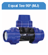 EQUAL TEE 90d MECHANICAL JOINT HDPE