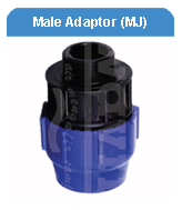 MALE ADAPTOR MECHANICAL JOINT HDPE