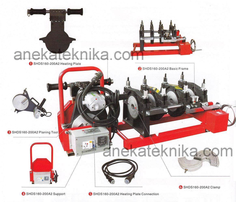Mesin Butt Fusion SHDS160 - SHDS200 Manual - 4 Klem