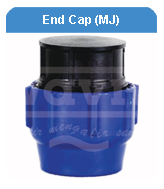 END CAP MECHANICAL JOINT HDPE